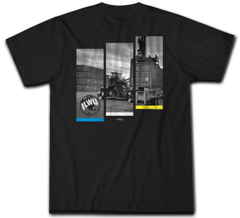 Dock Loader 3 Panel Black - ILWU T Shirt - Short Sleeve