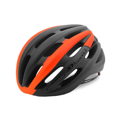 Giro Foray Road Bike Helmet - Matte Black/Vermillion