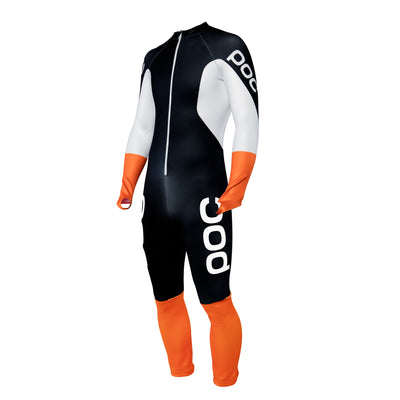 POC Skin GS JR Ski Race Suit - Uranium Black/Hydrogen White