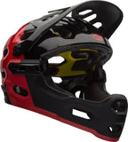 Bell-Super2r-MIPS-red-black-mountain-bike-Helmet-front