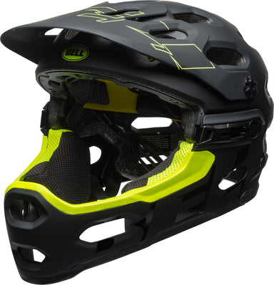Bell Super 3R MIPS Mountain Bike Helmet - Black/Retina Sear