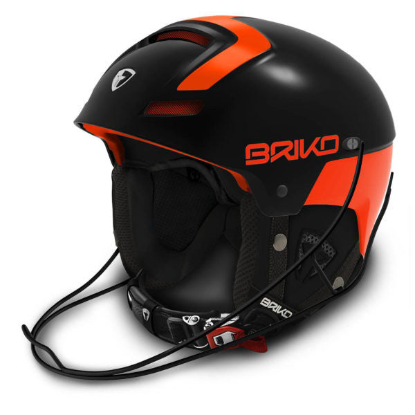 Briko Slalom Racing Helmet - Orange Black
