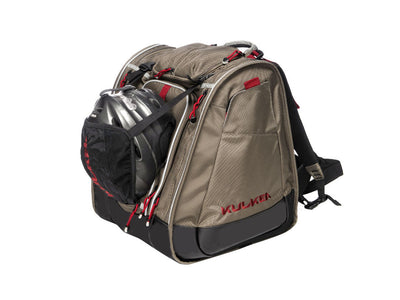 kulkea-boot-trekker-ski-bag-backpack-tan-black-red