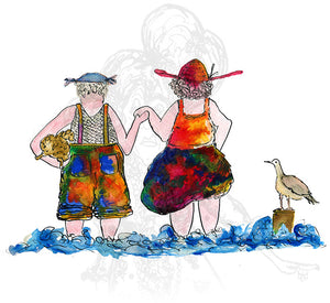 """Little Paddle"" - Darby and Joan - damedoodah.com  - Art and Design by Katie Rudge"