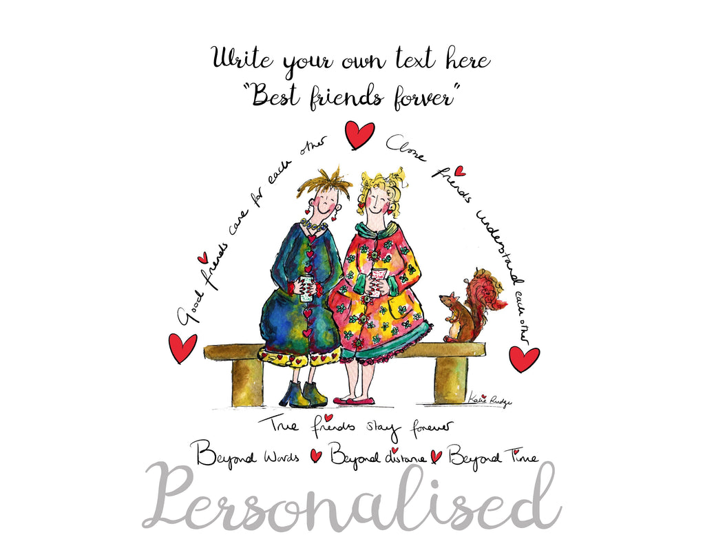 Best Friends - Personalised Print