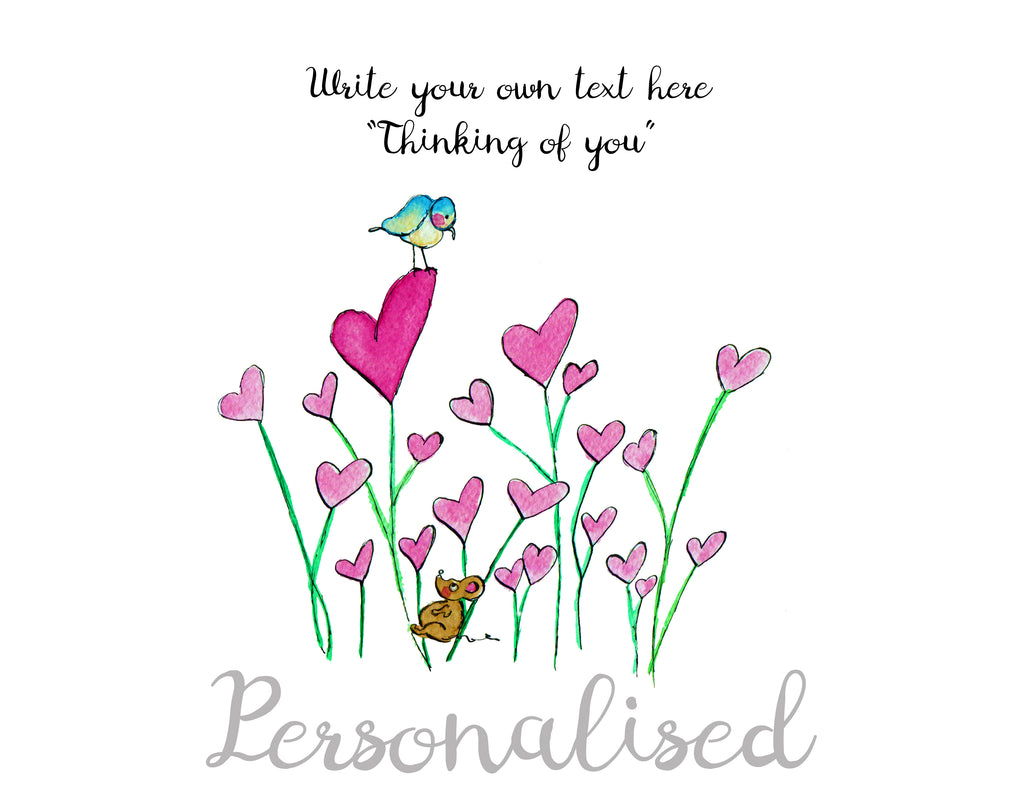 Thinking of you  - Personalised Print