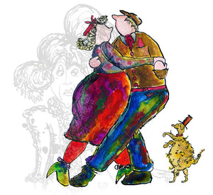 """Three to Tango""- Darby and Joan - damedoodah.com  - Art and Design by Katie Rudge"