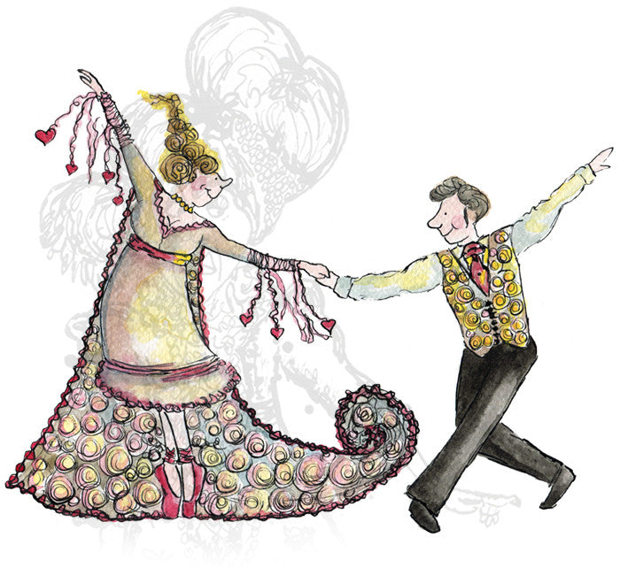 """First Dance""- Print - damedoodah.com  - Art and Design by Katie Rudge"