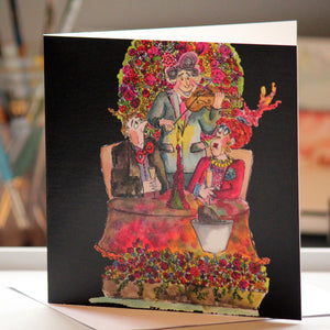"""Table for Three"" Greeting Card - damedoodah.com  - Art and Design by Katie Rudge"