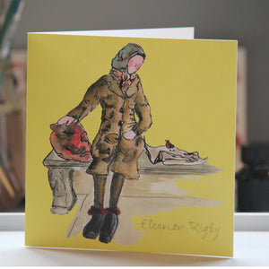 """Eleanor Rigby"" Greeting Card - damedoodah.com  - Art and Design by Katie Rudge"