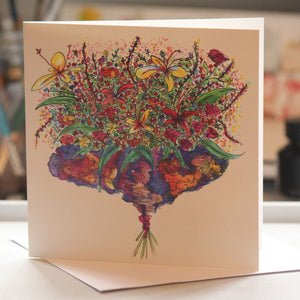 """Bouquet"" Greeting Card - damedoodah.com  - Art and Design by Katie Rudge"