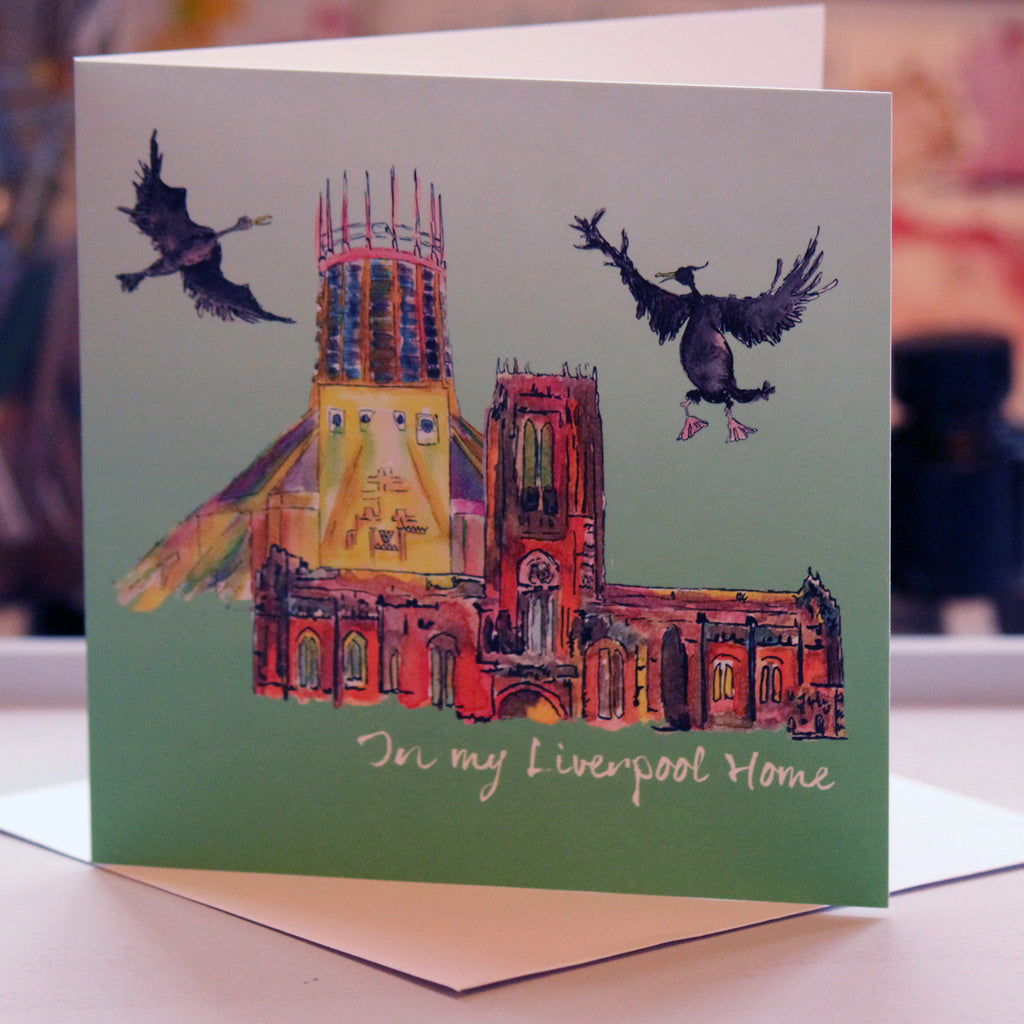 """In My Liverpool Home"" Greeting Card - damedoodah.com  - Art and Design by Katie Rudge"
