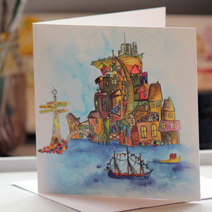"""Sea View"" Greeting Card - damedoodah.com  - Art and Design by Katie Rudge"