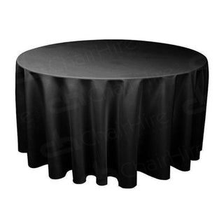 5ft Round Table Cloth - Black Table Cloth