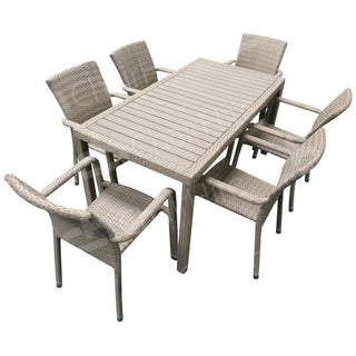 Ascot Rattan Set for 6 Table Rentuu