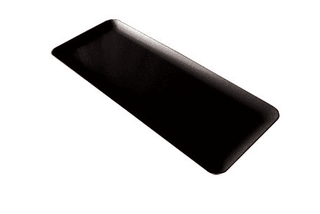 Black China Dish 16″ Rectangular Tableware Rentuu