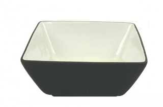Black Fruit Bowl 9.5″ Square Tableware Rentuu