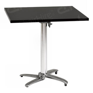 Black Square Bistro Table - 800mm Table Rentuu