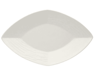 China Dish 7″ Diamond Shaped Plain White Tableware Rentuu