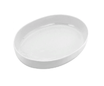 China Vegetable Dish 9″ Oval Plain White Tableware Rentuu