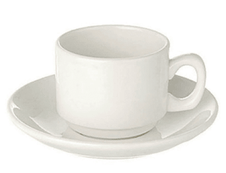 Coffee Cup Espresso Plain White  (packs of 10) Tableware Rentuu