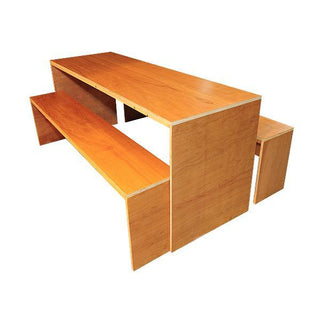 Contemporary Dining Table & Bench Set (Available in colors) Table Rentuu