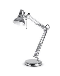 Desk Lamp Modern Chrome Reading Task Adjustable Lighting Rentuu