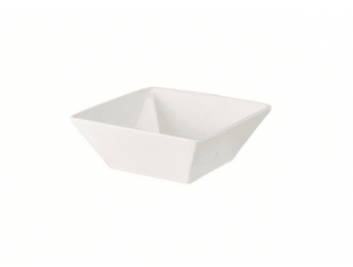 Dessert Bowl 6″ Square Plain White  (packs of 10) Tableware Rentuu