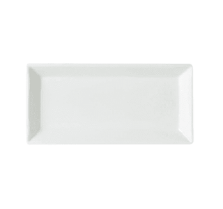 Dessert/Side Plate 10″ Rectangular Plain White  (packs of 10) Tableware Rentuu