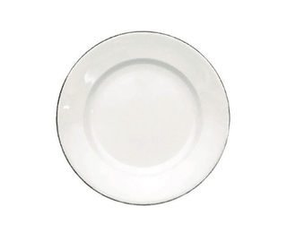 Dessert/Starter Plate 7.5″ Silver Line (packs of 10) Tableware Rentuu