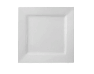 Dinner Plate 10″ Square Plain White  (packs of 10) Tableware Rentuu