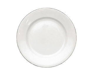 Dinner Plate 9.5″ Silver Line (packs of 10) Tableware Rentuu