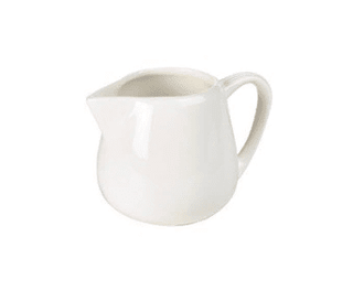 Milk/Cream Jug 4oz Plain White Tableware Rentuu