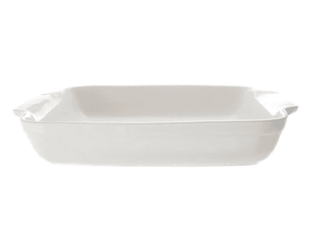 Oven Proof Dish 12″ Rectangular Plain White Tableware Rentuu