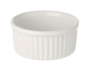 Ramekin Dish 3.5″ Large Plain White Tableware Rentuu