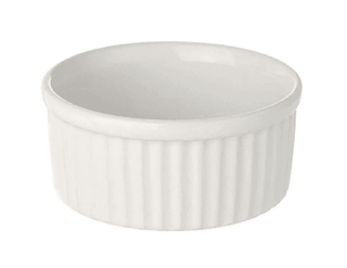 Ramekin Dish 3″ Small Plain White Tableware Rentuu