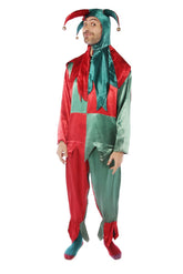 Red and Green Jester Costume Costume Rentuu