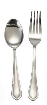 Service spoon and fork Dessert Spoon