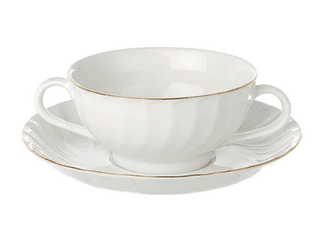 Soup Cup Gold Line (packs of 10) Tableware Rentuu