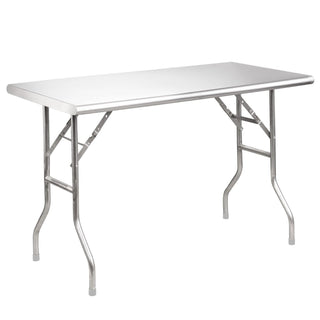 Stainless Steel Trestle Table with adjustable height Table Rentuu