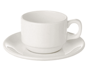 Tea/Coffee Cup Plain White  (packs of 10) Tableware Rentuu