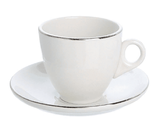 Tea/Coffee Cup Silver Line (packs of 10) Tableware Rentuu