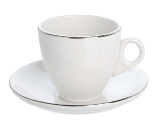 Tea/Coffee Saucer Silver Line (packs of 10) Tableware Rentuu