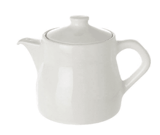 Tea Pot Plain White Tableware Rentuu