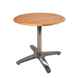 Teak & Aluminium Cafe Table Table Rentuu