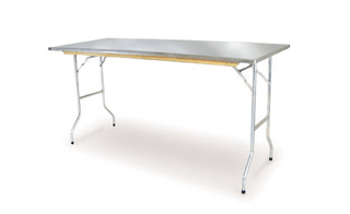 Trestle Table S.S Top 58″ x 28″ Table Rentuu
