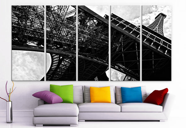 "XLARGE 30""x 70"" 5 Panels Art Canvas Print beautiful Eiffel Tower France Paris Wall Home Decor interior (Included framed 1.5"" depth) - BoxColors"