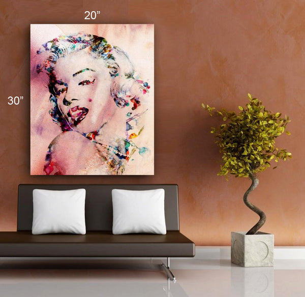 "MARILYN MONROE FRAMED 30""x 20"" Original Art Canvas Print Limited Edition this 18/5000 Wall home decor Celebrity (Included framed 1.5"" depth)"
