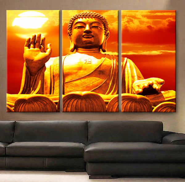 Art Canvas Print Buddha meditation Spiritual Wall home office decor interior - BoxColors