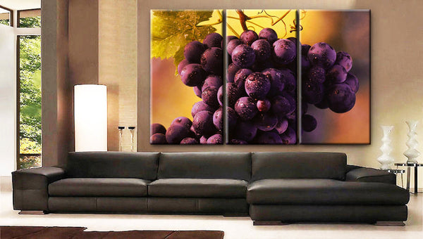 Art Canvas Print beautiful Grapes fruits Wall decorative home office decor interior - BoxColors
